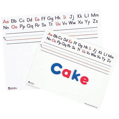 Learning Resources Alphabet Write/Wipe Brd 9X12 (Set/10)