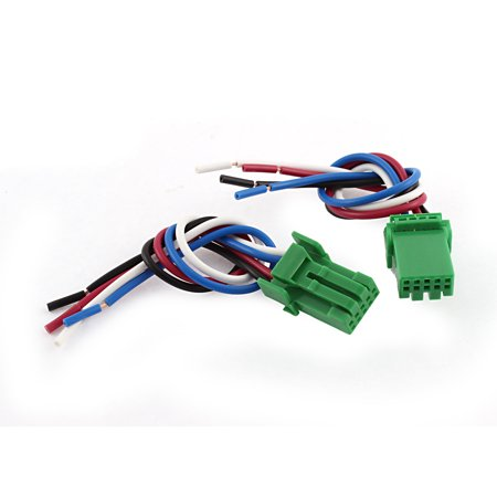 2PCS Auto 4 Wired Fog Light Switch Socket Cable Wire Wiring Harness 14cm