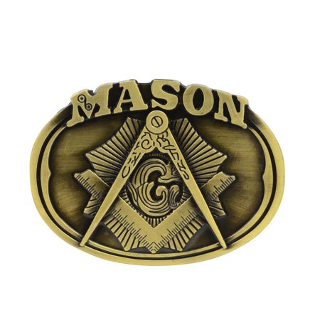 New Men's Bronze Masonic Belt Buckle Freemason Men's Fashion Men Free Mason Gift