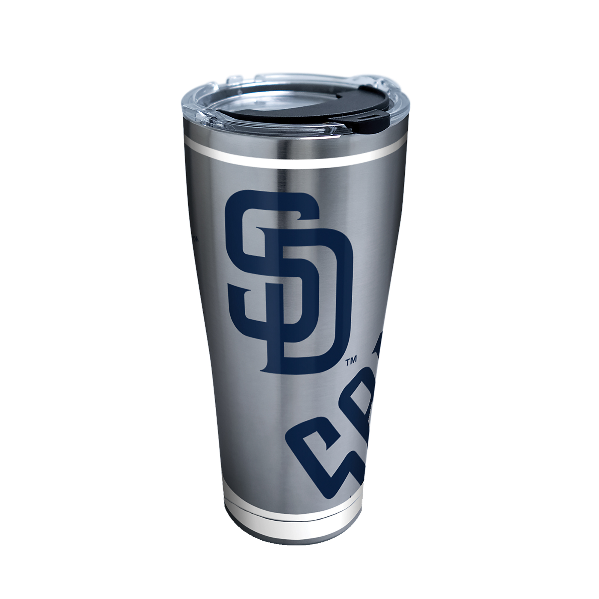 MLB San Diego Padres Genuine 30 oz Stainless Steel Tumbler with lid
