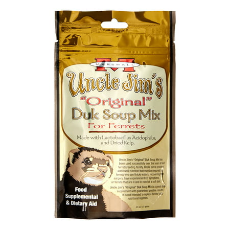 - Marshall Pet Products Uncle Jim's Original Duk Soup Mix Recipe Ferret Supplement, 4.5 Oz