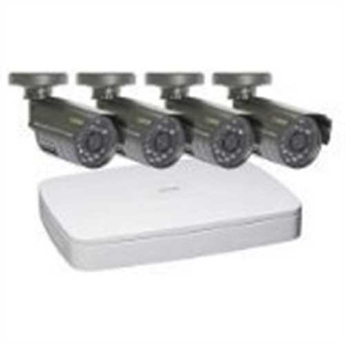 Refurbished Q-SeeQC304-4B5-5 4-Channel Digital Video Recorder with 4 Cameras for Surveillance Systems