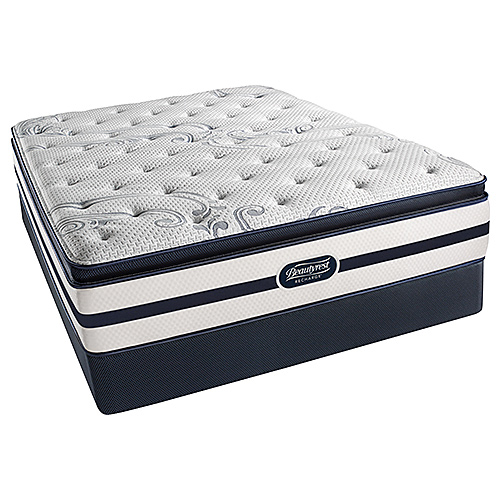 Beautyrest Recharge North Hanover Plush Pillow Top King Size Low Profile Mattress Set