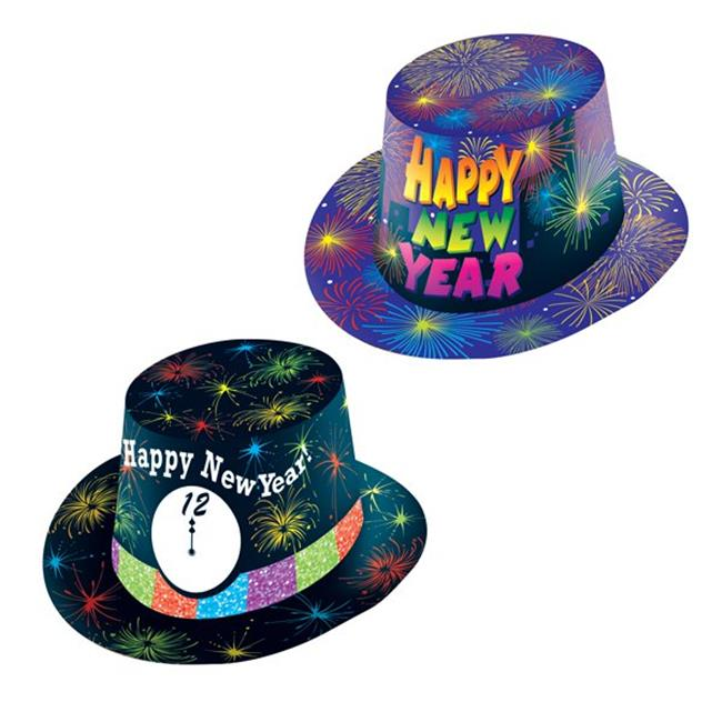 Eros F01-NY378 Printed Paper New Years Hats - Pack of 48