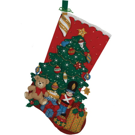 Bucilla   Felt Applique Stocking Kit by Plaid, Under the Tree, 18