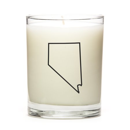 Personalized Nevada State Outline Candle, State Gift, College Gift, State Candle Made With Premium Soy Wax, Reusable 11 Ounce Glass Jar - Lemon Apothecary Glass Jar Wax Candle