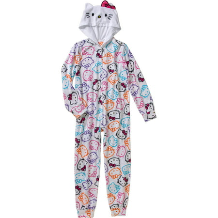 Hello Kitty Toddler Girl Hooded Blanket Sleeper - Next Womens Onesie