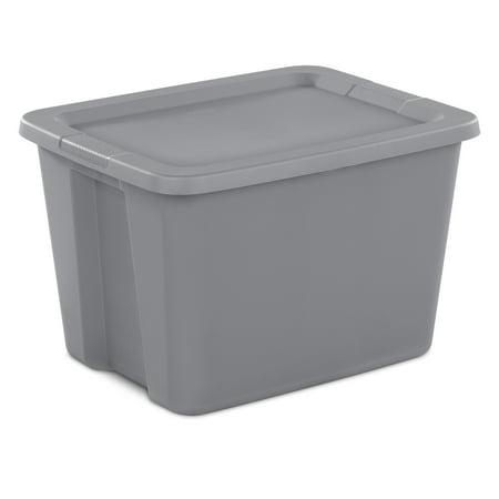 Sterilite 18 Gal./68 L Tote Box Titanium