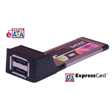 Coolgear 2-Port SATA2 Express Card/34mm Dual eSATA for New Laptops