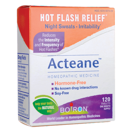 Boiron Acteane - Hot Flash Relief 120 Tabs (Best Remedy For Hot Flashes)