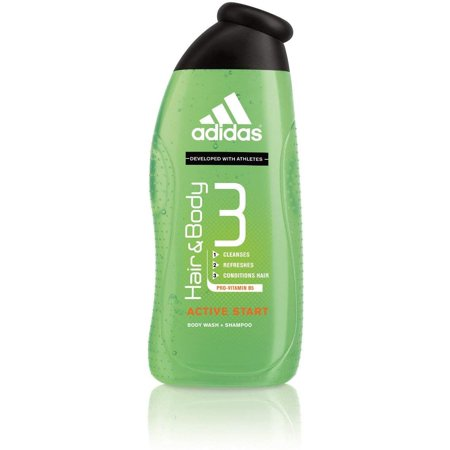 4 Pack - adidas Fragrance Male Personal Care 3-in-1 Body Wash, Active Start 16 oz (Adidas Womens Body Wash)