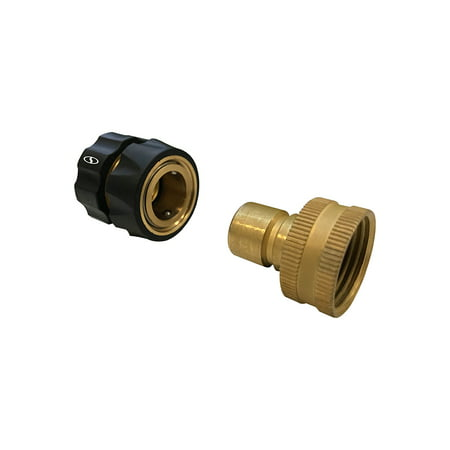 Quick Connect Hose >> Sun Joe Spx Uqc3k Brass 3 Piece Universal Pressure Washer To Garden Hose Quick Connect Kit