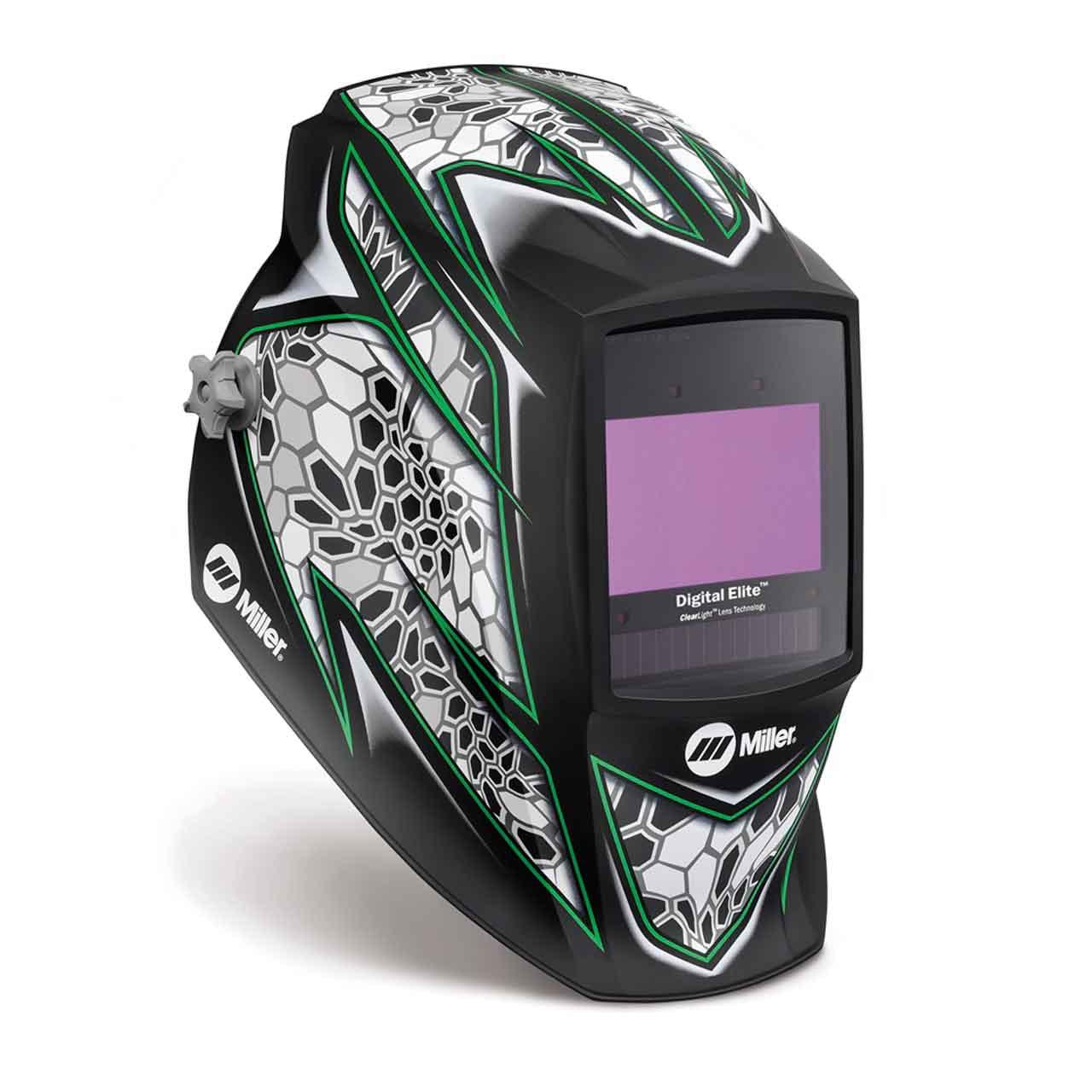Miller 281007 Digital Elite Welding Helmet with ClearLight Lens, Raptor