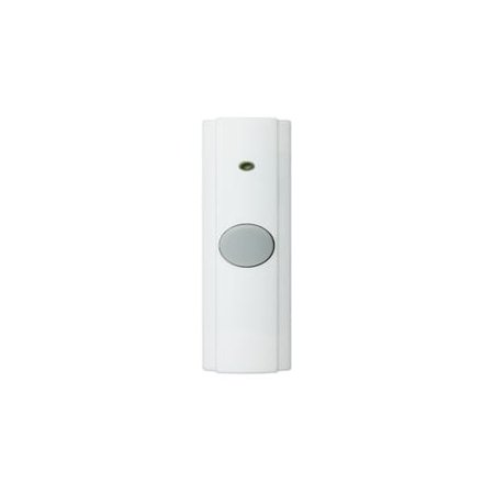 Rectangular Doorbell - NuTone PB82WH Wireless Unlighted Rectangular Pushbutton (Package of 6)