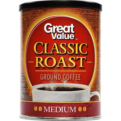 Great Value Classic Roast Medium Ground Coffee, 11.3 oz