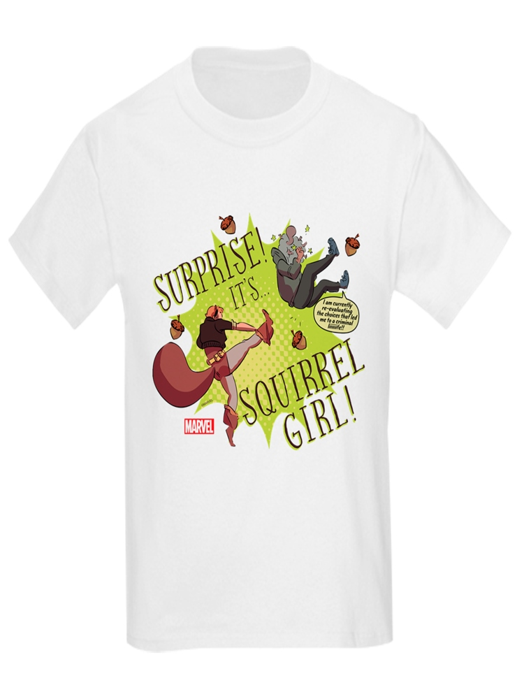 CafePress - Squirrel Girl Fighting Crime - Kids Light T-Shirt