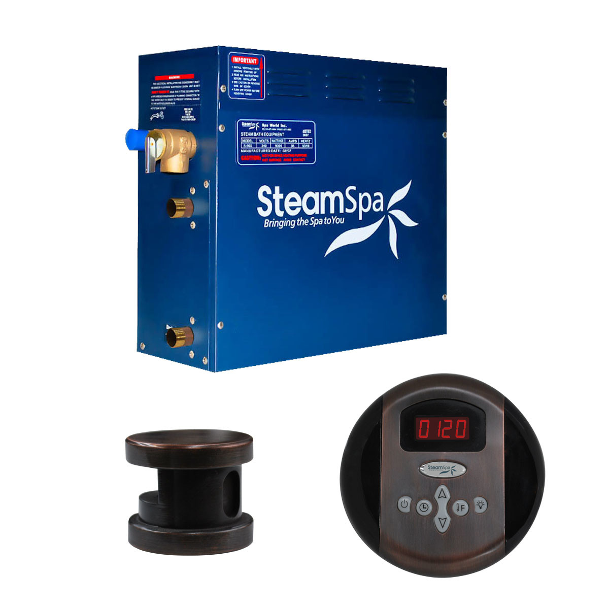 Steamspa Oa600 Oil Rubbed Bronze Oasis 6 Kw Steam