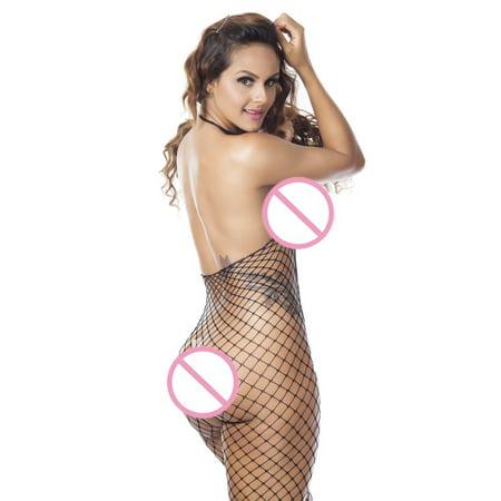 CARLTON Women Fishnet Sheer Body Stocking Bodysuit Lingerie