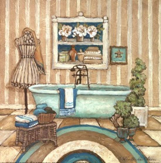 My Inspiration Bath II Poster Print by Charlene Olson (12 x 12)