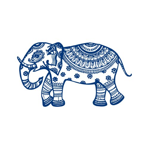 Decal House Elephant Mural Wall Decal