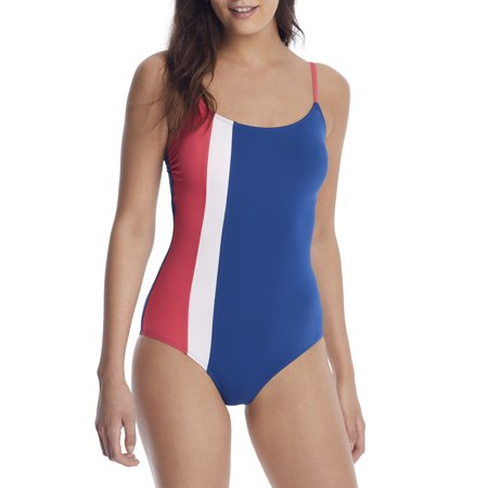 Anne Cole Signature Womens Color Block Maillot One-Piece Style-21MO02474 Swimsuit