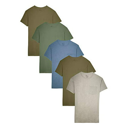Patagonia Pocket Pack - Fruit of The Loom Men's Pocket T-Shirt Multipack (XX-Large (50-52), Assorted Earth Tones (5 Pack))