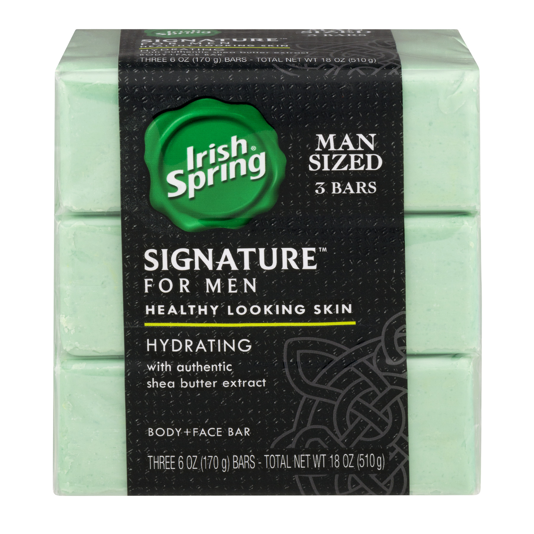 Irish Spring Signature for Men Hydrating Bar Soap - 3 Count