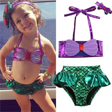 Toddler Kids Baby Girls Swimwear Bathing Suit Beachwear Tankini Bikini Costume - Bathing Suit Costume