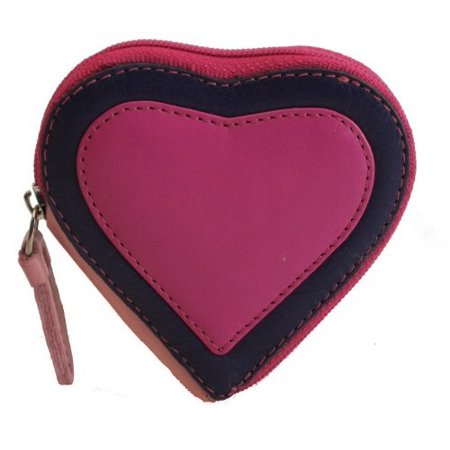 Visconti Capri RB59 Multi Colored Heart Shaped Ladies/ Girls Leather Coin Pur...