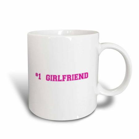 3dRose #1 Girlfriend - Number One Best girlfriend - Romantic couple gifts dating anniversary Valentines day - Ceramic Mug,