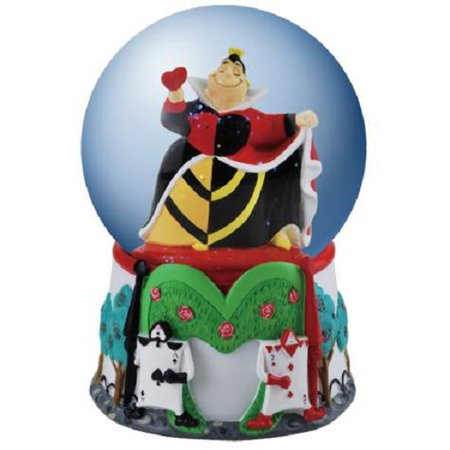 Disney Queen Of Hearts 100mm Water Globe Westland  24202 New Alice in Wonderland