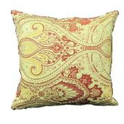 Corona Dcor Corona Decor French Woven Victorian Filigree Cotton and Wool Design Pillow
