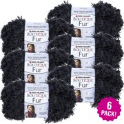 Red Heart Boutique Fur Yarn - Slate, Multipack of 6