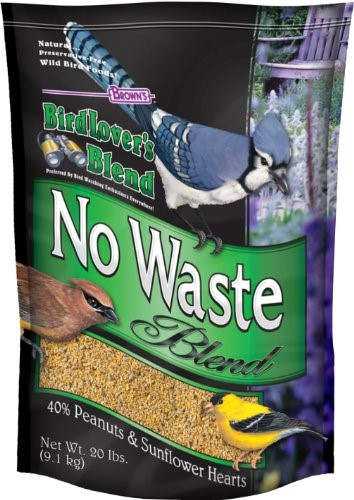 Brown's Bird Lover's Blend No Waste Blend Bird Food, 20 Lb by F.M. BROWN'S SONS, INC.