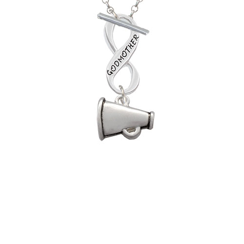 Small Megaphone Godmother Infinity Toggle Chain Necklace