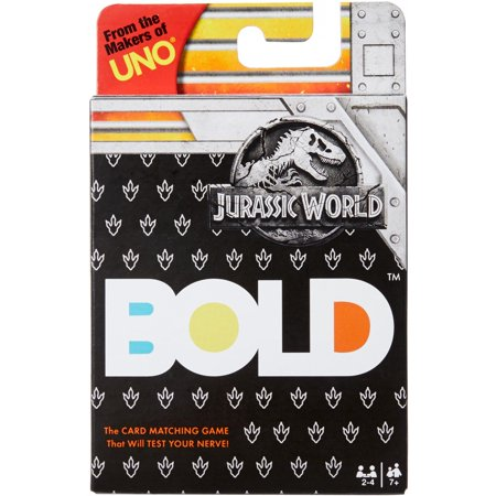 BOLD Jurassic World Edition Card Game for 2-4 Players Ages 7Y+ (El Paso Board Game)