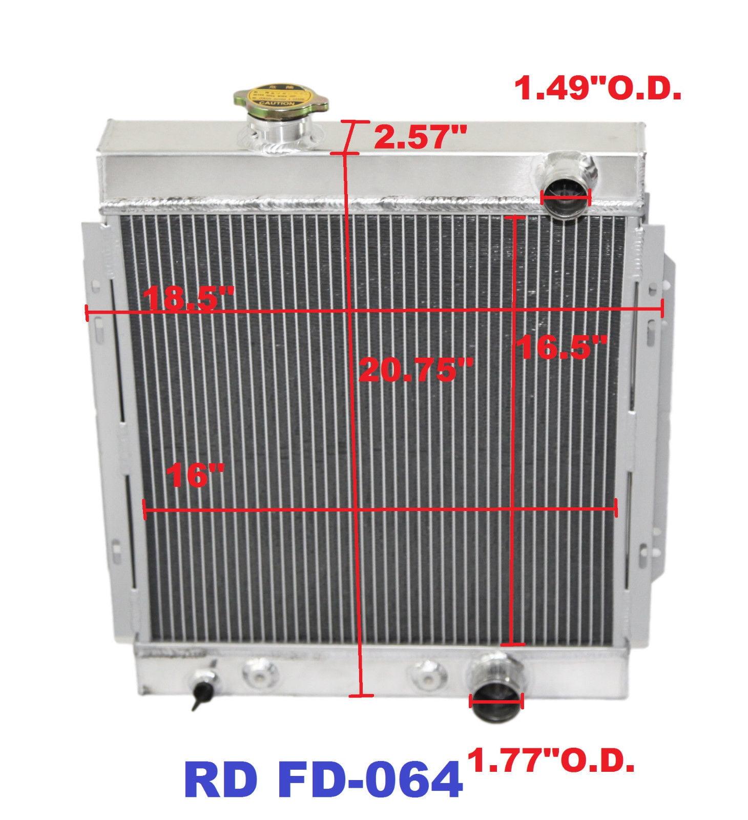 "3 Core Performance RADIATOR+16/"" Fan for 64-66 Ford Mustang Base V8 I6 MT"