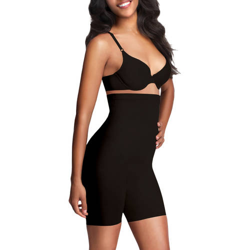 FLEXEES by Maidenform Shiny Ultra Firm Control Shaping Hi-Waist Thighslimmer, 83034