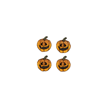 Expo Int'l Halloween Mini Jack-O-Lantern Iron-on Applique Pack of 4