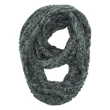 Luxury Divas Two Tone Knit Soft Infinity Scarf Walmart Com