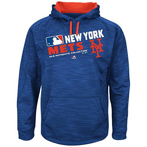 MLB Men's Big and Tall On-Field Team Choice Streak Therma Base Fleece Hoodie (2XT, New York Mets) by Profile