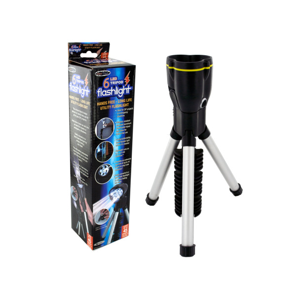 Bulk Buys Tripod LED Flashlight, Case of 1