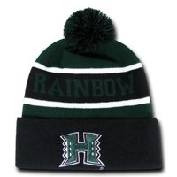 257bd124f9a Product Image University of Hawaii Rainbow Warriors NCAA Winter Pom Cuff  Knit Beanie Cap Hat