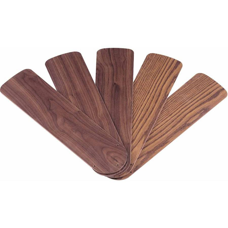 "Westinghouse 7741500 52"" Oak and Walnut Reversible Fan Blades, 5-Count"