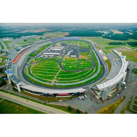Aerial view of North Carolina Speedway in Charlotte, NC Print Wall (The Mall In Charlotte Nc)