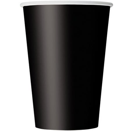 12oz Paper Cups, Black, 10ct