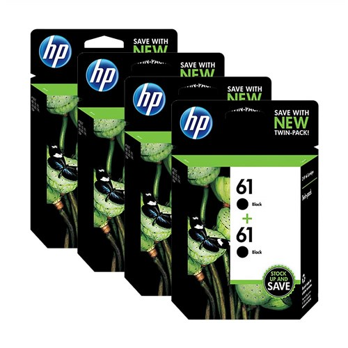 HP 61 Black Original Ink Cartridges-2 Cartridges (CZ073FN ...