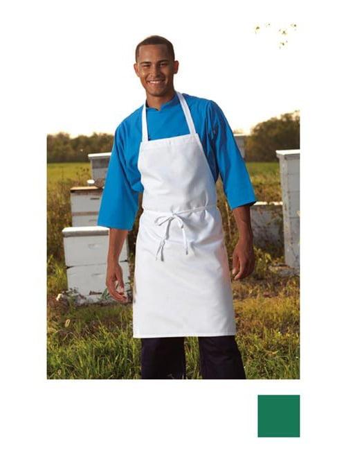 threads unisex restaurant bib apron, kelly, one size