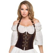Brown Steampunk Underbust Corset Mystery House C1386 Brown