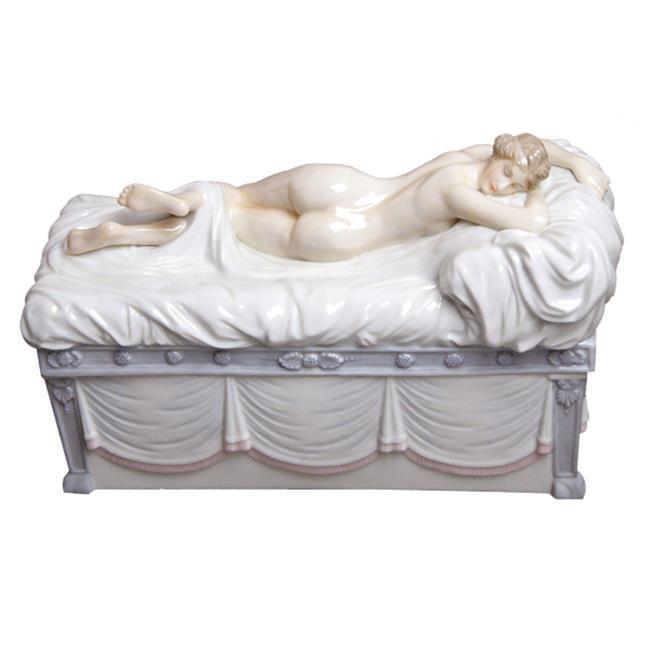 Unicorn Studios AP20100AA Sculpted Female on a Chaise Casket Porcelain Sculpture - image 1 de 1